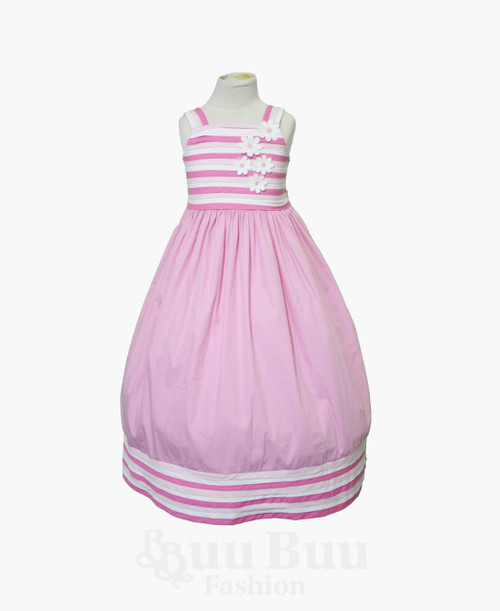 BU406 Pink Cotton Everyday Dress