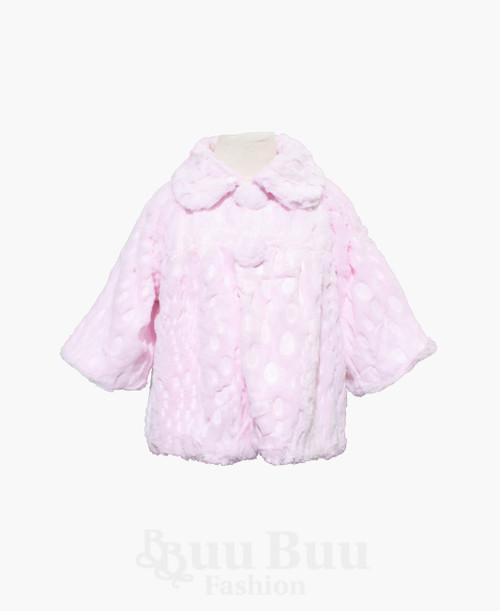 J516 Faux Fur Short Sleeve Pattern Bolero Jacket
