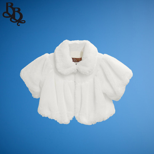 J515 Faux Fur Short Sleeve Bolero Jacket