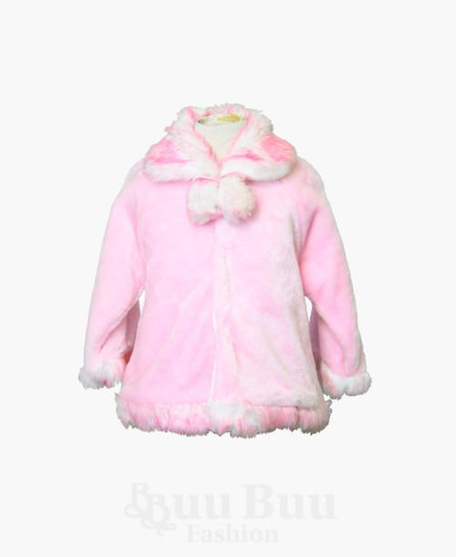 H108 Faux Fur Long Sleeve Bolero Jacket