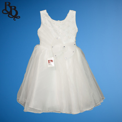 N005 Floral Party Dress with pearls and large bow