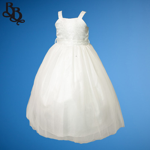 BU1402 Floral and Sequin Tulle Flowergirl Dress