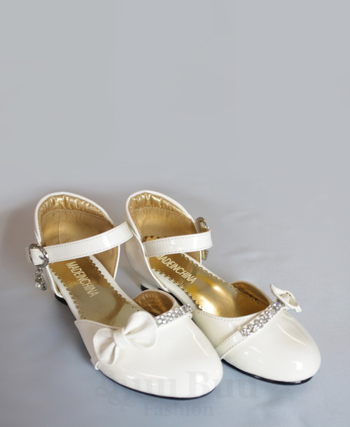 G372 Diamante Embellishment Patent Leather Girls Shoe