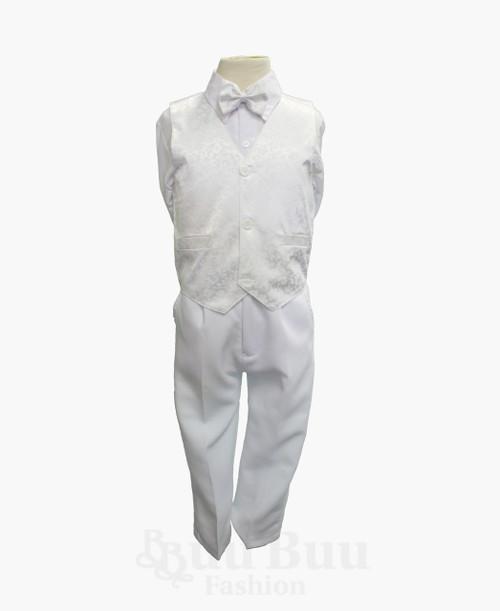TT40H Dragon Floral Design Off White Pageboy Suit
