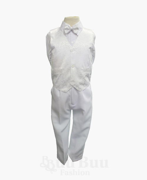 TT40H Dragon Floral Design Off White Pageboy Suit