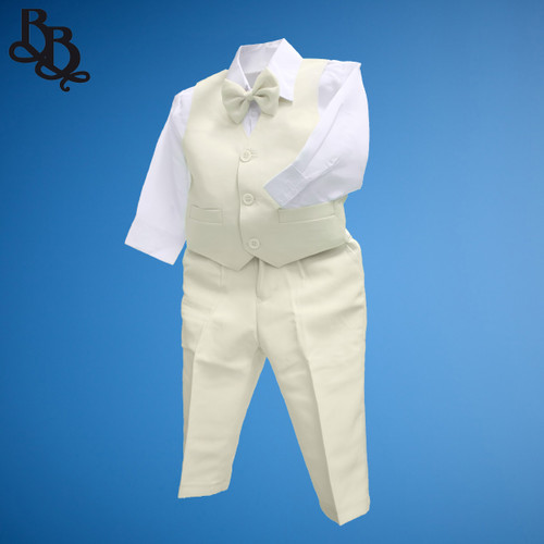 TT9C Cream Page Boy Vest Suit