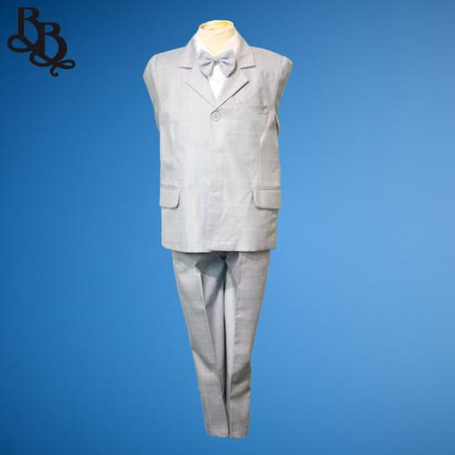 TT16 Plaid Pattern 2 Piece Jacket Trouser Suit