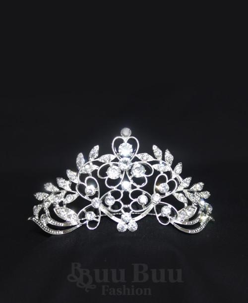 1060 Regular Size Floral Twig Design Rhinestone Tiara