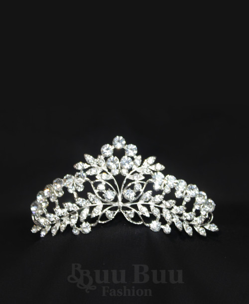 1062 Regular Size Butterfly and Twig Design Rhinestone Tiara