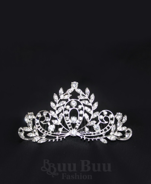 1063 Regular Size Symmetrical Twig Design Rhinestone Tiara