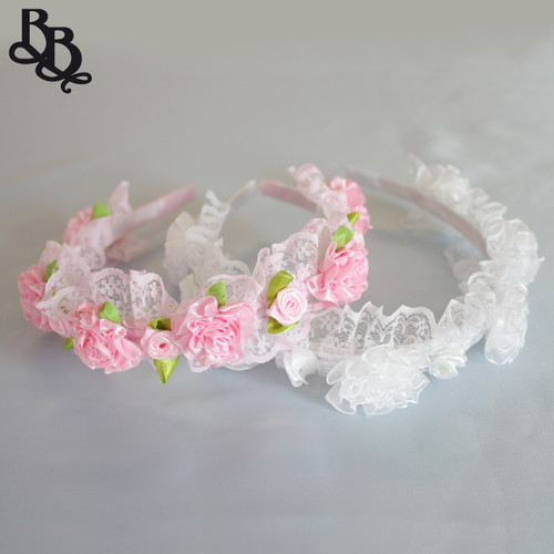 L307 Girls Floral Lace Headband