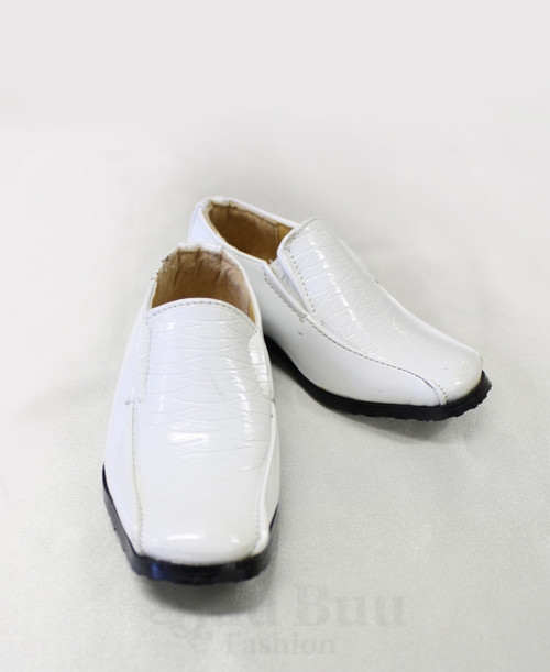 B300 Boys Toddler Pattern Patent Leather Formal Shoes