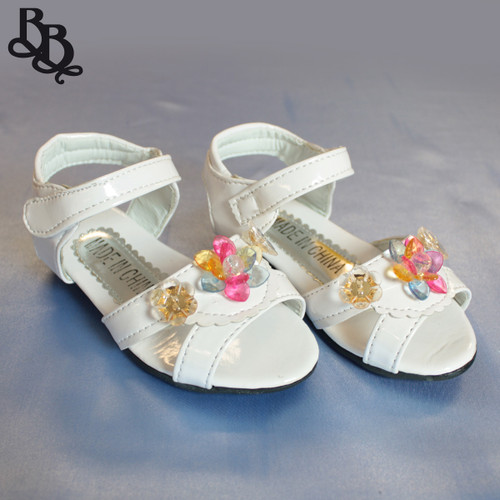 G291 Girls Floral Sandal Shoe with Light