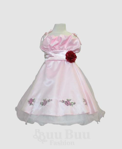 L204 Floral Short Party Dress