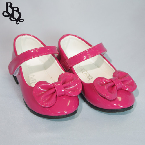 G413 Girls Toddler Colour Patent Leather Shoe