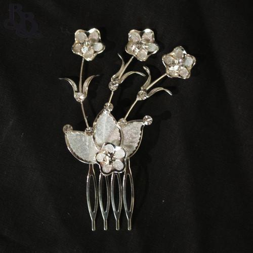 N205 Diamante Floral Headpiece with comb