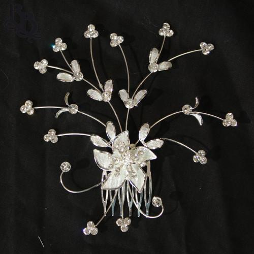 N208 Diamante Floral Headpiece with comb