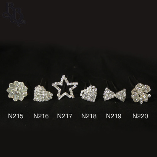 N217 Diamante Star Shaped Hairpin