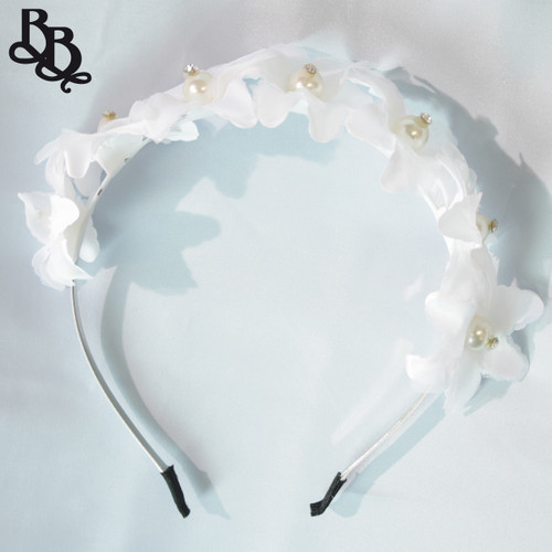 FL03 White Floral Headband