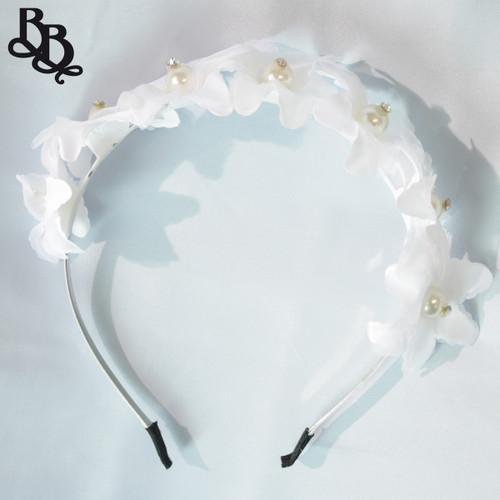 FL03 White Floral Headband