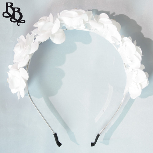 FL04 White Floral Headband