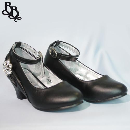 G426 Girls Faux Leather High Heel Shoe