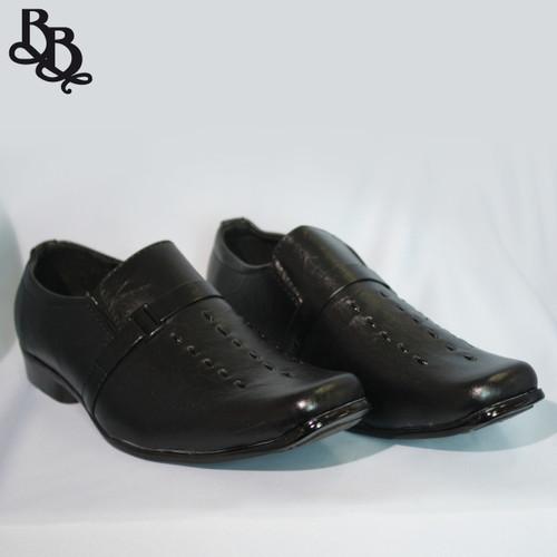 B312 Boys Pattern Faux Leather Formal Shoe