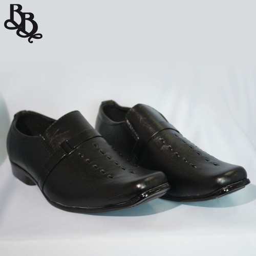 B312 Boys Pattern Faux Leather Formal Shoe