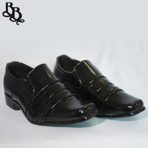 B314 Boys Pattern Faux Leather Formal Shoe