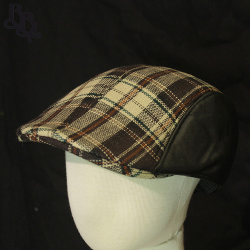 N297 Boys Checked Ivy Cap Hat