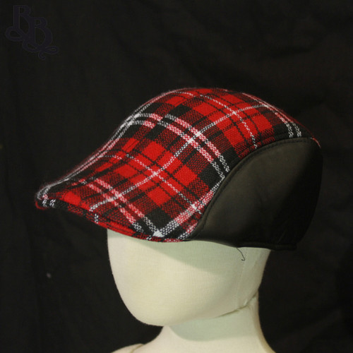 N297 Boys Checked Ivy Cap Hat