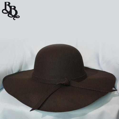 N292 Ladies Summer Felt Wide Brim Hat