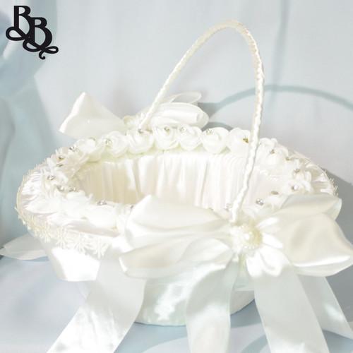 N301 Mid Size Floral Flowergirl Basket