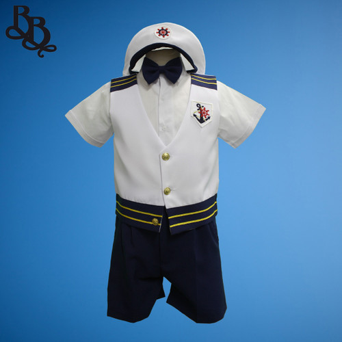 TT8 Navy Short Sleeve 5 Piece Sailor Suit