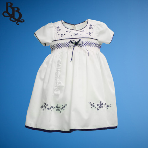 BU174 Baby Girls Floral Cotton Dress