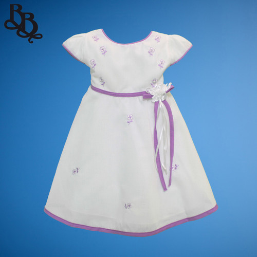 BU175 Baby Girls Floral Cotton Dress