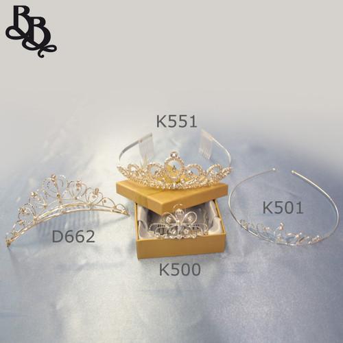 K500 Small Princess Floral Rhinestone Tiara