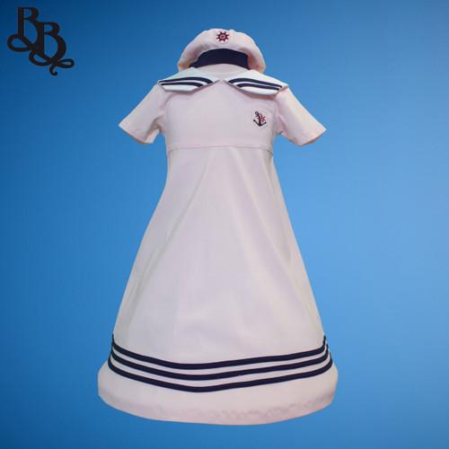 E602 Girls Cotton Sailor Dress