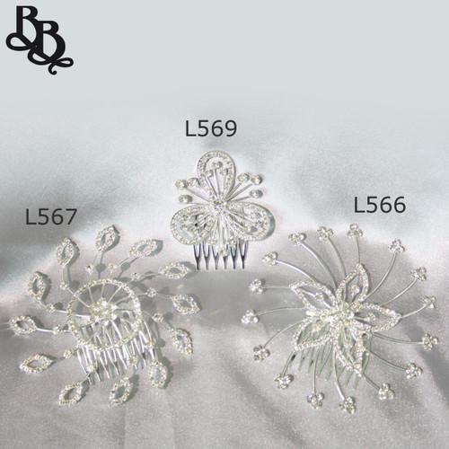 L569 Girls Floral Diamante Headpiece