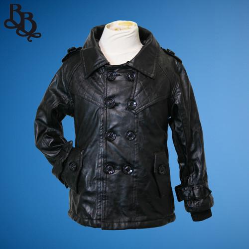 L377 Girls Faux Leather WInter Jacket