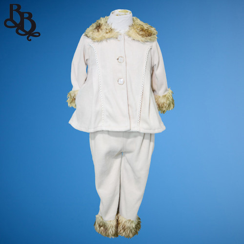 E210 Girls Fleece Tracksuit