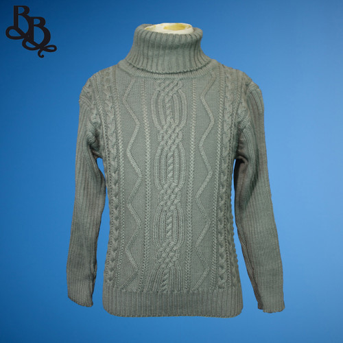 L370 Boys Simple Colour Winter Jumper