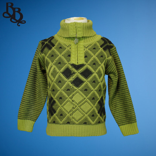 L373 Boys Pattern Colour Winter Jumper