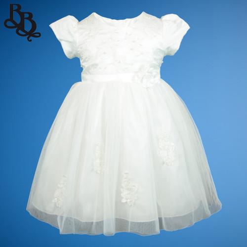 BU451 Baby Girls Off White Formal Dress