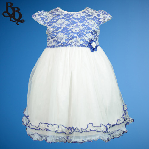 BU453 Baby Girls Colour Floral Dress