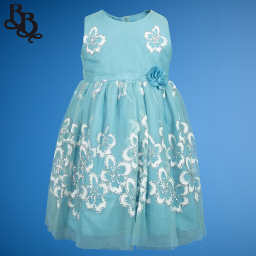 BU454 Baby Girls Colour Floral Party Dress