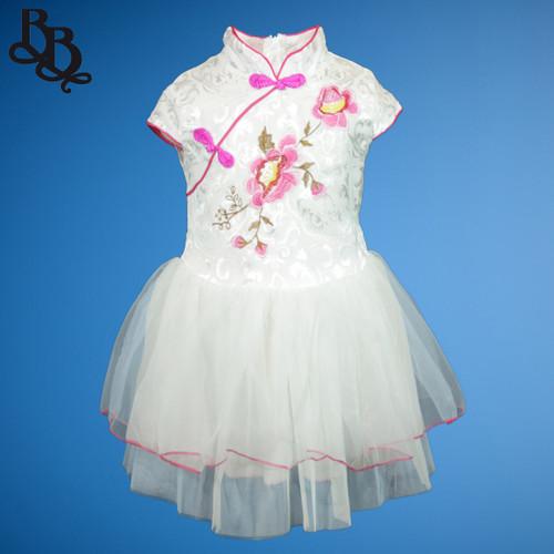 N516 Floral Oriental Party Dress