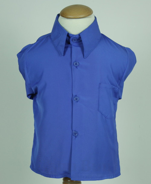 299 Royal Blue Silk Polyester Long Sleeve Shirt