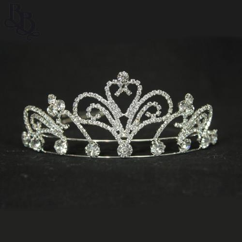 N614 Girls Diamante Crown Headpiece