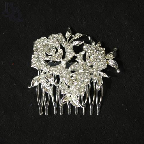 N632 Girls Floral Diamante Comb Headpiece